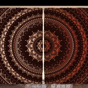Enclosing Magic Circle Mandala Curtains NWT